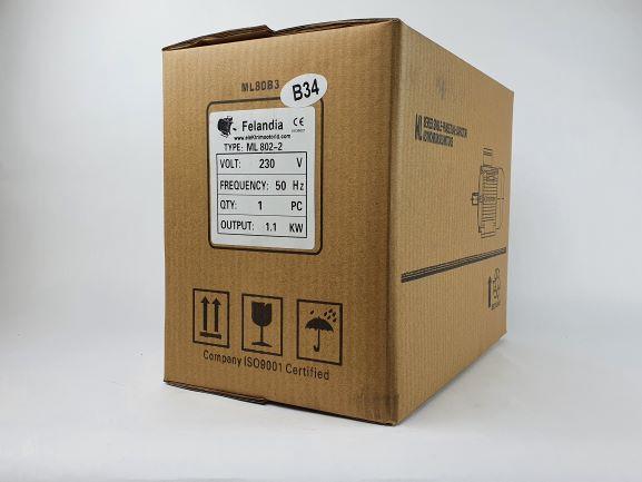 Elektrimootor 1,1kW/3000 p/min ML 802-2 B34; IP55; 230V