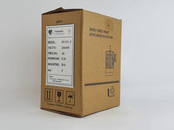 Elektrimootor 0,18kW/3000 p/min MS 631-2 B14; IE1; IP55; 230/400V