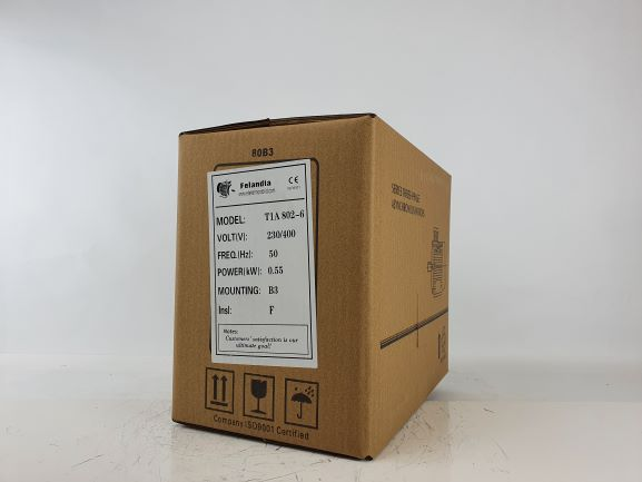 Elektrimootor 0,55kW/1000 p/min T1A 802-6 B3; IE1; IP55; 230/400V