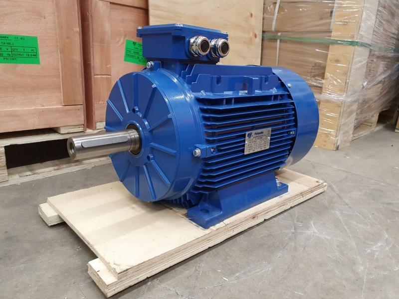 Elektrimootor 18,5kW/1500 p/min T3A 160L2-4 B3; IE3; IP55; 400/690V; PTC termistorid 130℃