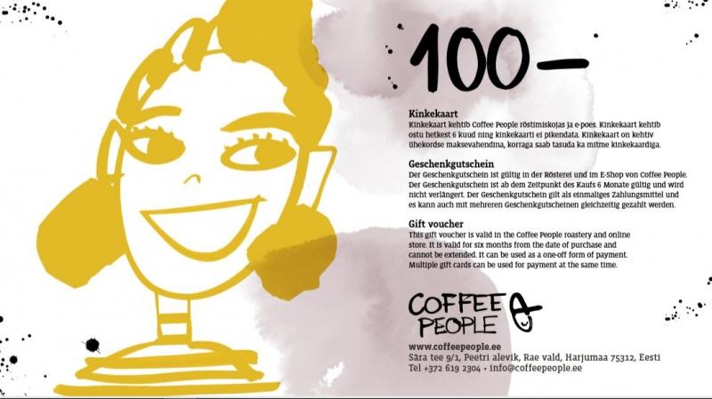 Kinkekaart väärtusega 100€