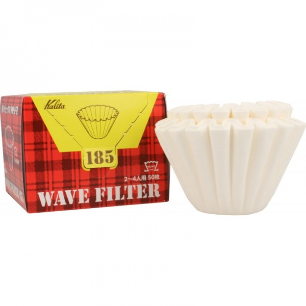Kalita Wave Filter #185 white, 50 pieces (2-4 cups)