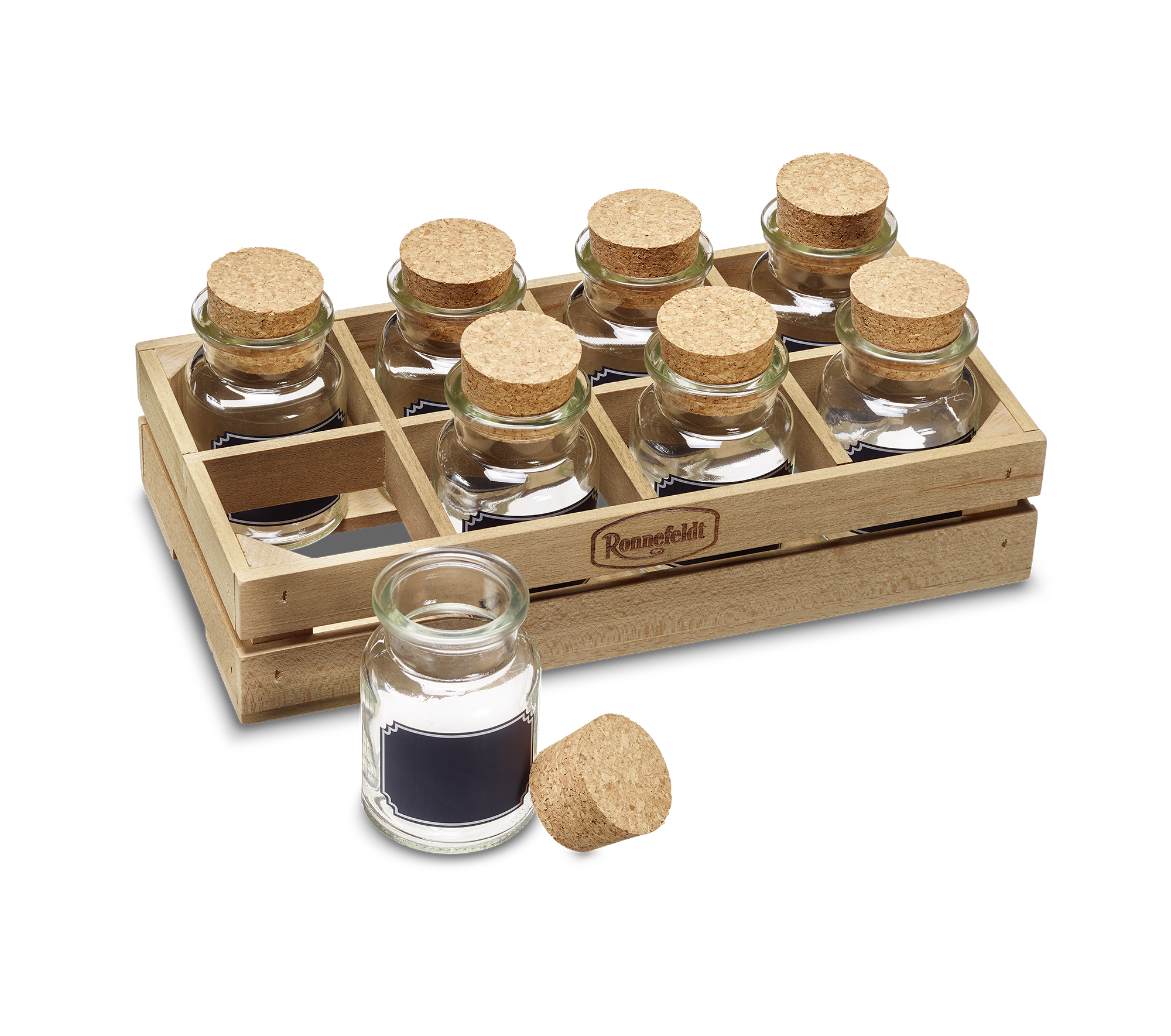 Tea tasting box for 8 glasses