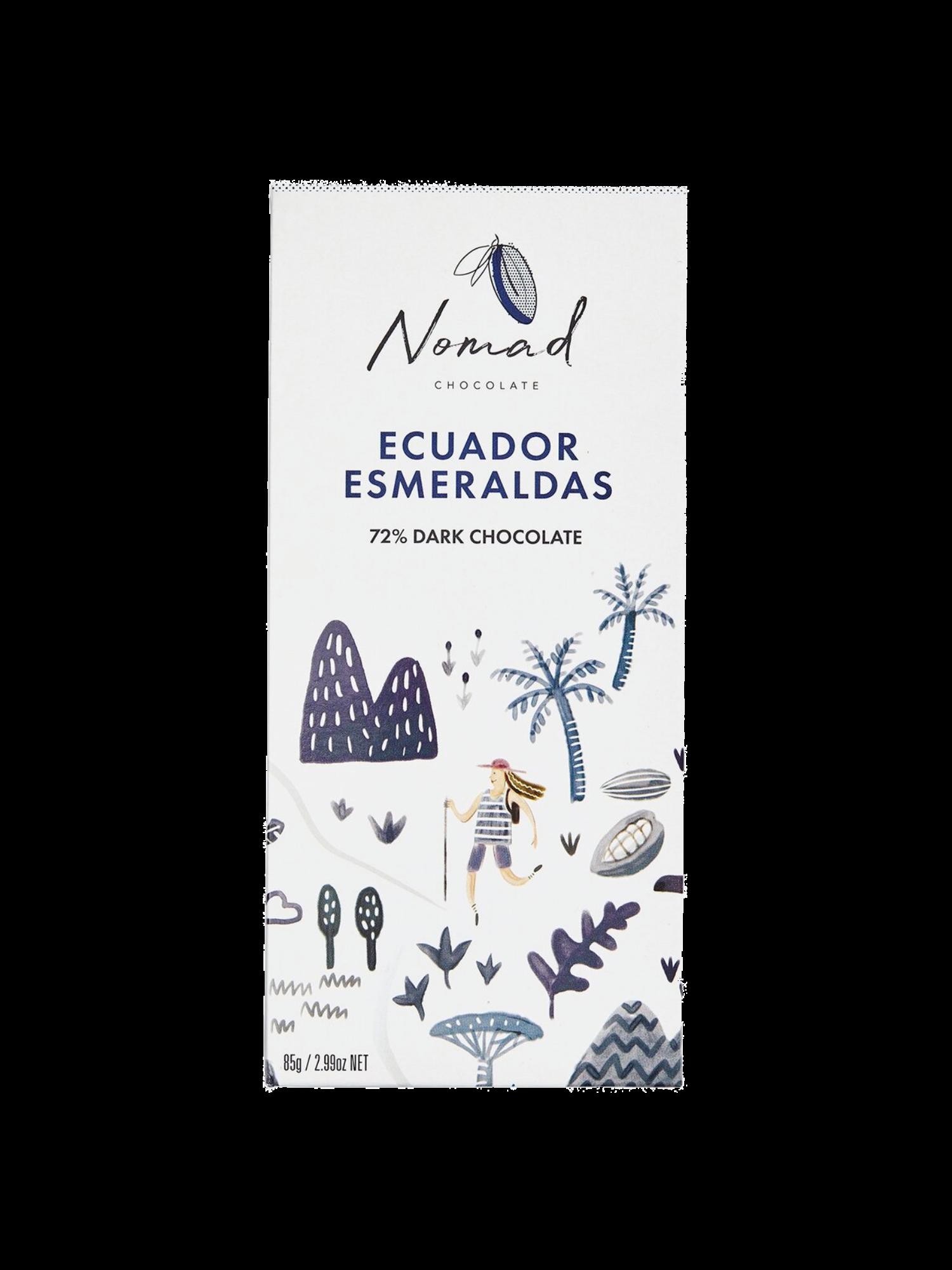 Nomad Chocolate Ecuador 72% Dark Chocolate Bar
