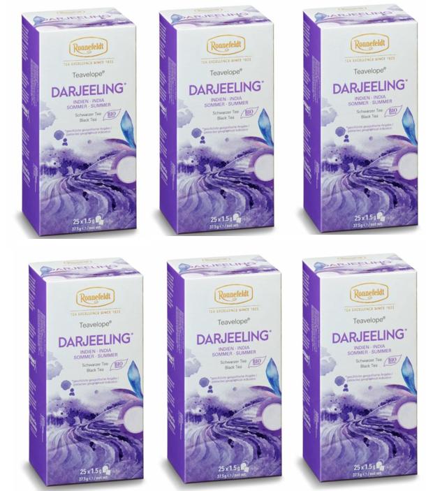 Ronnefeldt ümbrikutee Darjeeling Organic 6 pakki