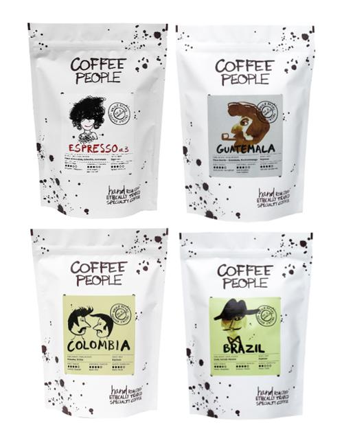 Kombo Espresso 500g pakid 4 erinevat pakki