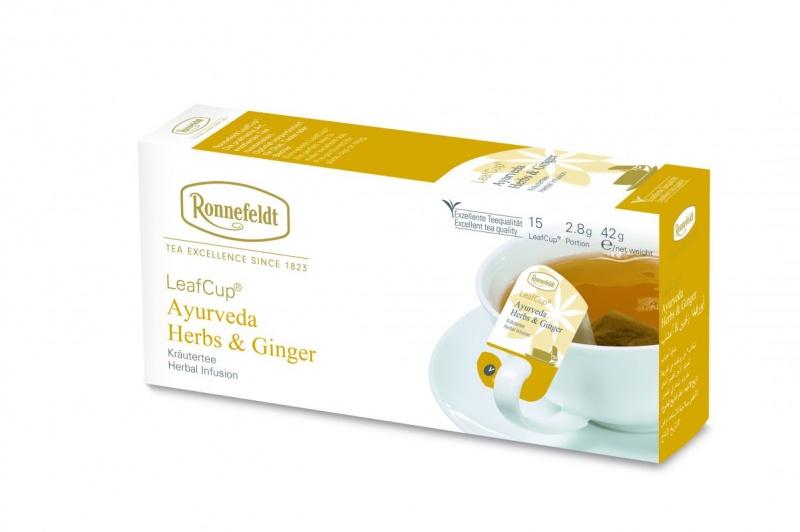 Ronnefeldt LeafCup Ayurveda Herbs & Ginger 15tk