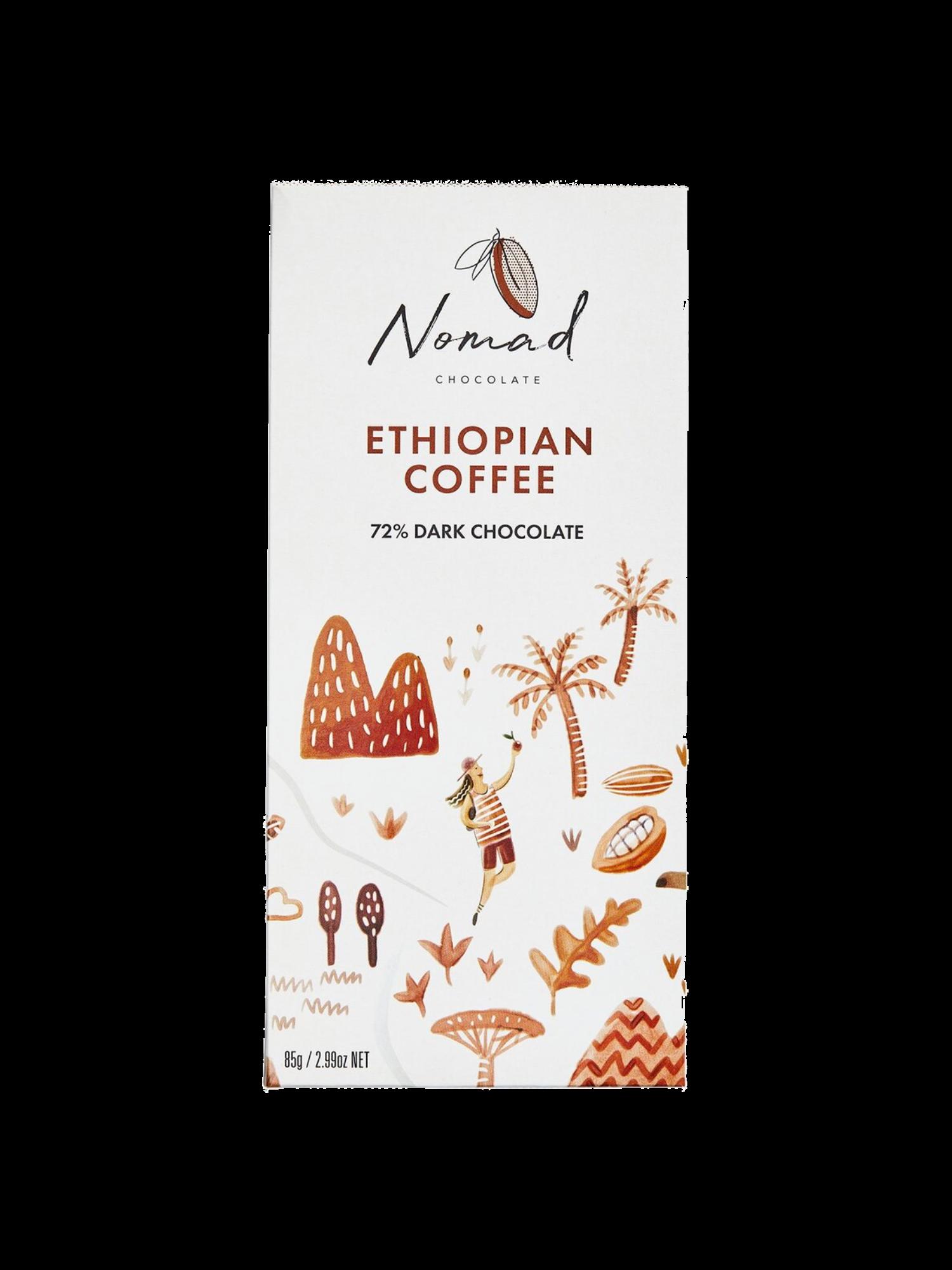 Nomad šokolaad Ethiopian Coffee 72%