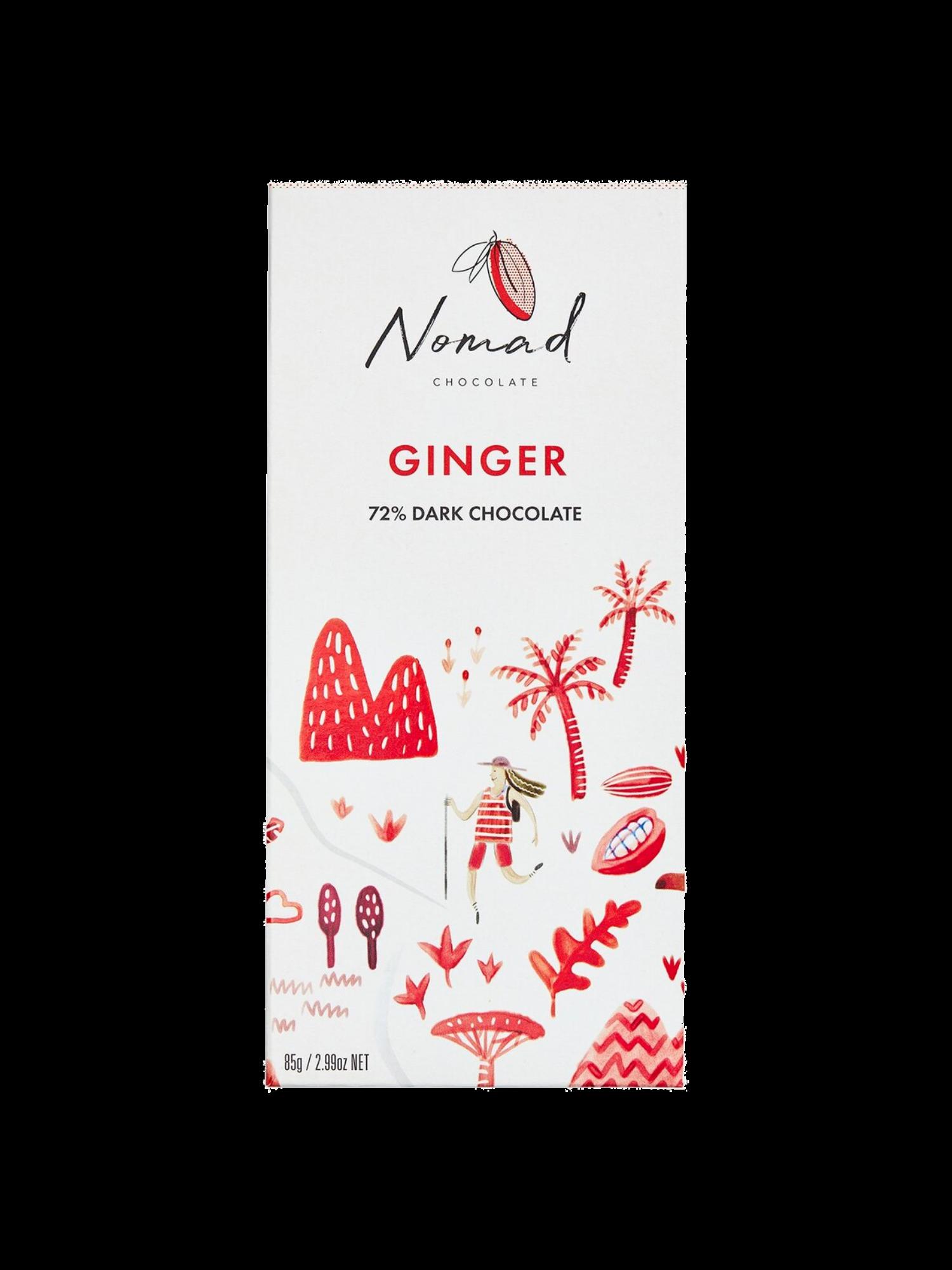 Nomad šokolaad Ginger 72%
