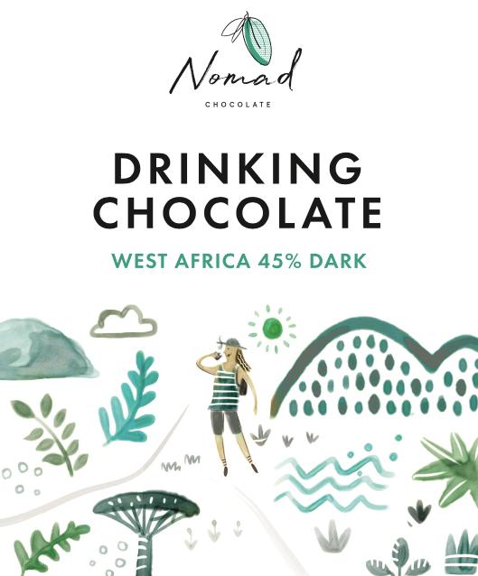 Nomad West Africa kakao, 45% 1kg