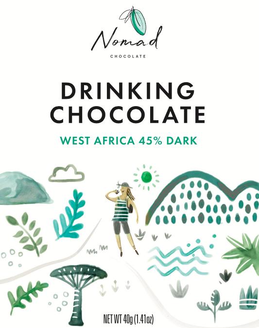 Nomad  West Africa kakao, 45% 40g