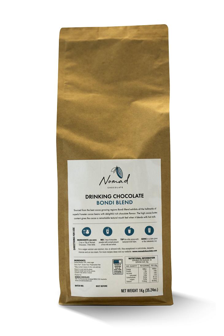 Nomad drinking chocolate Bondi Blend 1kg