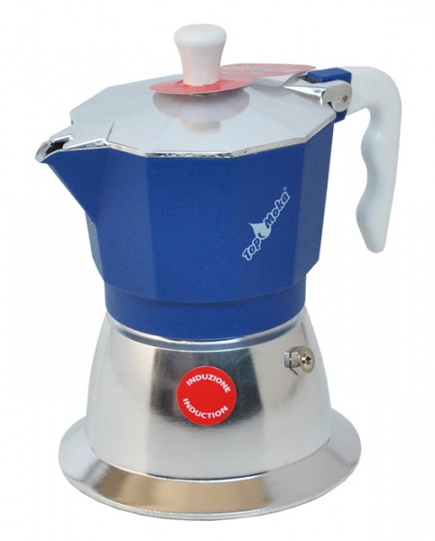 Top Moka Model Top 6 cups Induction Sinine