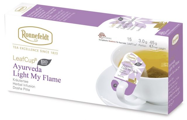 Ronnefeldt LeafCup Ayurveda Light my Flame Organic 15 servings