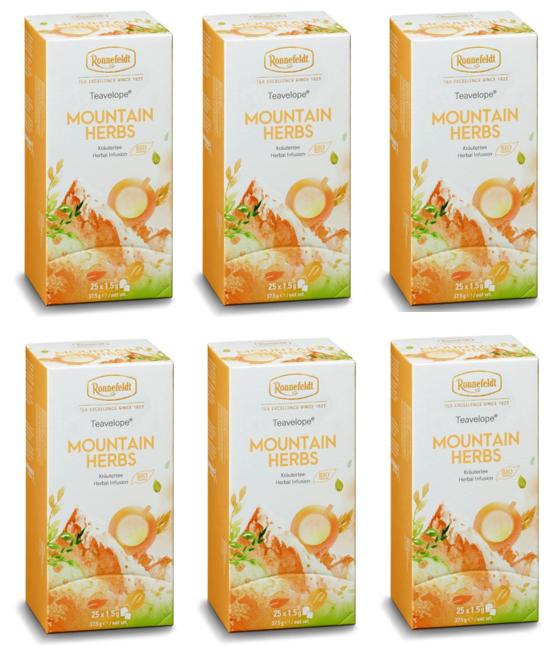 Ronnefeldt ümbrikutee Mountain Herbs Organic 6 pakki