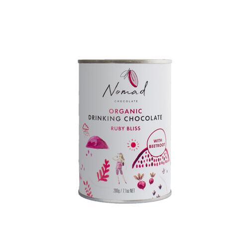 Nomad pink drinking chocolate Ruby Bliss 0,2kg