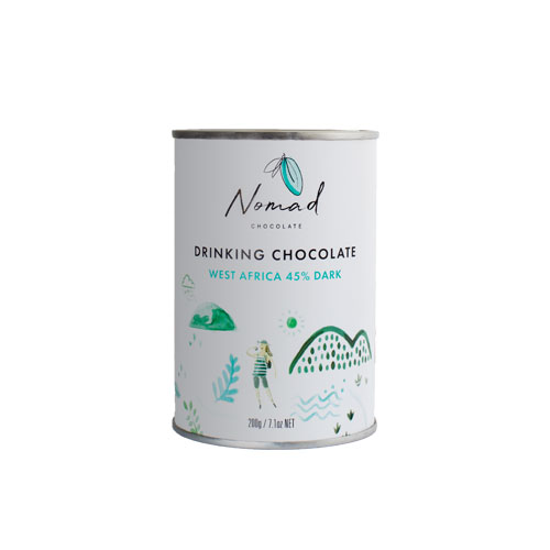 Nomad drinking chocolate West Africa, 45% 0,2kg
