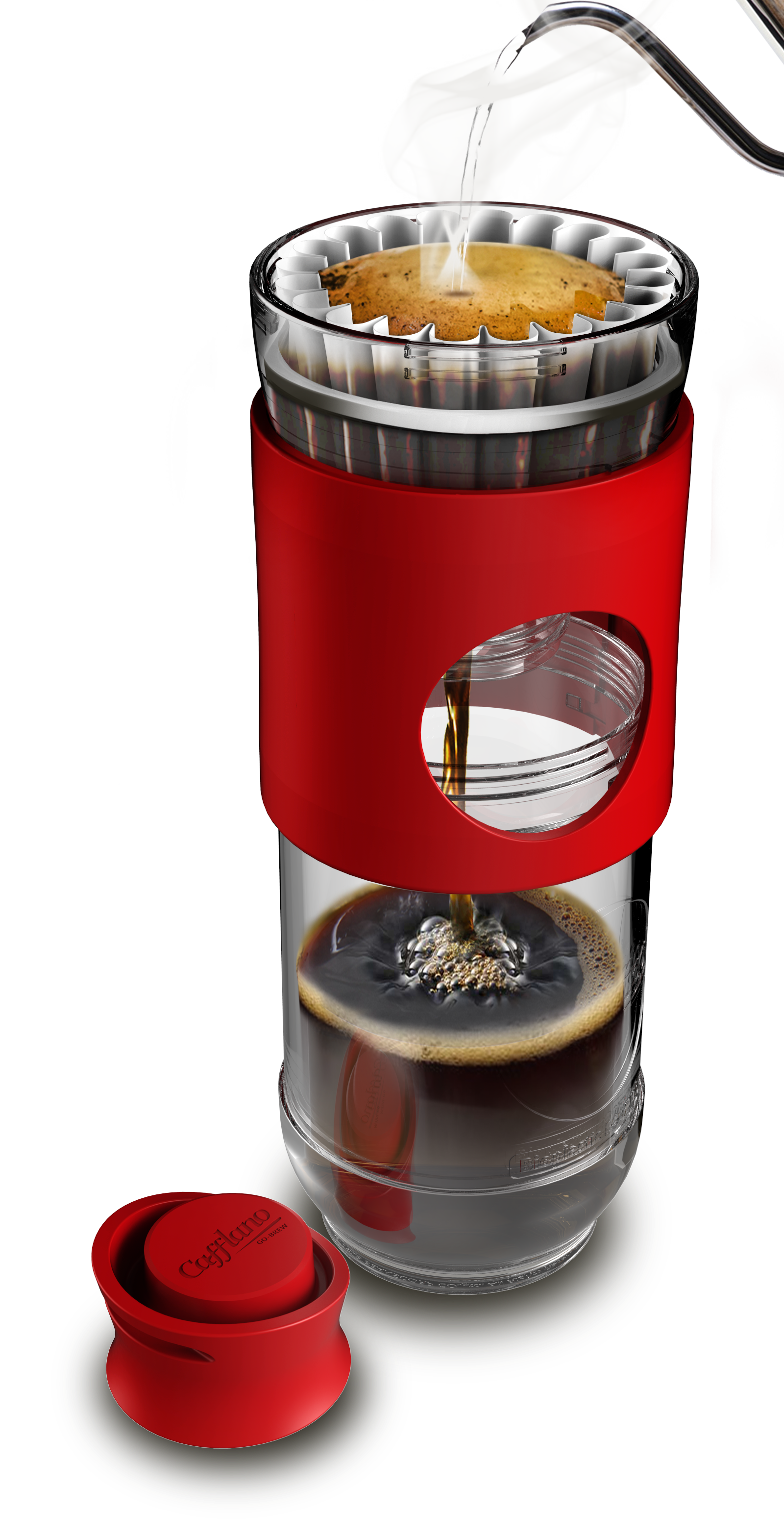 Cafflano Go-Brew - Red