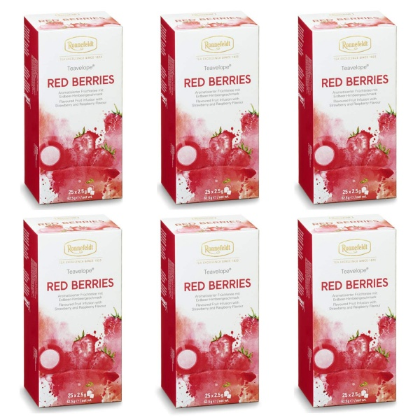 Ronnefeldt ümbrikutee Red Berries 6 pakki