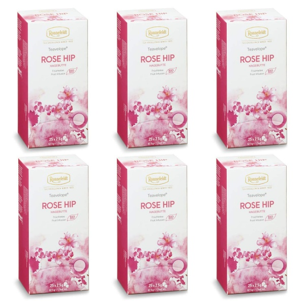 Ronnefeldt ümbrikutee Rose Hip Organic 6 pakki