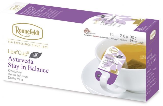 Ronnefeldt LeafCup Ayurveda Stay in Balance Organic 15 servings
