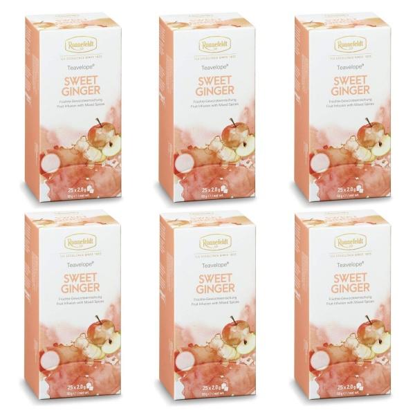 Ronnefeldt ümbrikutee Sweet Ginger 6 pakki